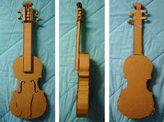 Cardboard Violin