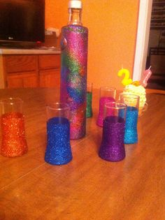 1000 images about diy shot glasses on pinterest shot for Paint you can use on glass