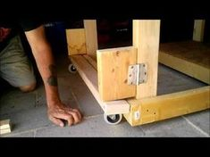 Retractable Casters for my Work Table - YouTube