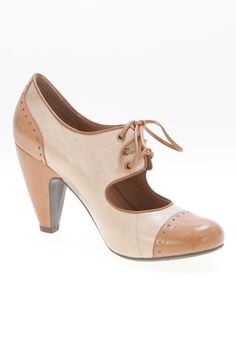 Miz Mooz Symphony High Heel Shoe In Cognac And Ice