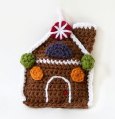 Image of Amigurumi Gingerbread House