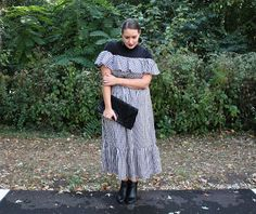 In Kinsey's Closet | Layering a turtleneck under a summer dress to transition into fall