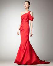 A more sleek red dress.