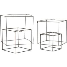 Wire Cube Set (€27) ❤ liked on Polyvore featuring home, home decor, small item storage, fillers, cube, doodles, drawings and wire home decor