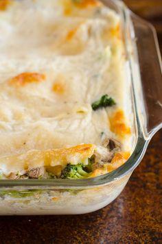 Broccoli and Mushroom White Lasagna by @seededtable