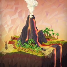 Volcano Mesa (Day) on NeonMob