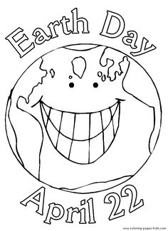 Earth Day color page, holiday coloring pages, color plate, coloring sheet,printable color picture