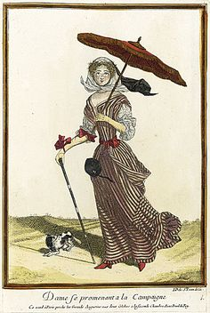 1675 Lady strolling in the countryside