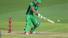 Kevin Pietersen scores 66 from 46 balls but Melbourne are beaten by Adelaide in the Australian Big Bash. Kevin Pietersen, Melbourne Stars, Champions League, Cricket, Action, Big, Sports, Hs Sports, Group Action
