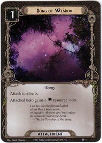 Song of Wisdom card lotr lcg