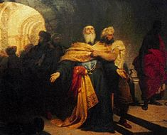 Patriarch Gregory V of Constantinople shortly before he was hanged, as depicted by Nikiforos Lytras, Greek painter Greek Paintings, Archangel Gabriel, Academic Art, Today In History, History Timeline, Greek Art, Chiaroscuro, Modern History, Old Master