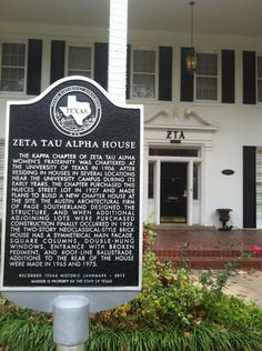 The home of our Kappa Chapter at The University of Texas at Austin is an official landmark on the Texas State Historical Registry. Click to read the story and about notable (FAMOUS) Kappa Chapter members!
