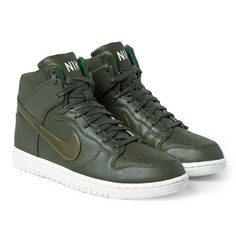 Nike - Lunar Dunk Leather High-Top Sneakers|MR PORTER