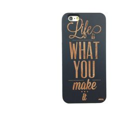 Black Bamboo Wood Case - Life is What You Make It – Milkyway