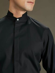 Made from the finest cotton, this sleek shirt has a hidden placket and Shanghai… Polo Shirt Outfits, Cute Simple Outfits, Mens Designer Shirts, Man Dressing Style, Outfits Hombre, New Mens Fashion, Twill Shirt, Kurta Designs, Boys Shirts