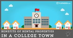 """As with any major college, the closer you get to the college, the more rentals you'll find. Renting a house off-campus, for many, can be the first leap into becoming an adult and having independence, freedom, and responsibility. It's also a """"step-up"""" from on-campus living so there is always demand. There are numerous benefits to renting out to college students near a college, but there's also a few things to be careful of."""