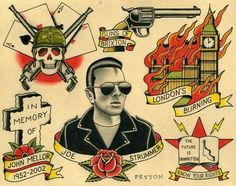 Image result for joe strummer tattoo