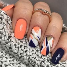 opi nail polish [TOP NAILS] 26 Best Nails for Nail Inspiration - Fav Nail Art opi nail polish Cute Acrylic Nails, Cute Nails, My Nails, Manicure E Pedicure, Gel Nail Designs, Orange Nail Designs, Nail Art Diy, Best Nail Art, Creative Nails