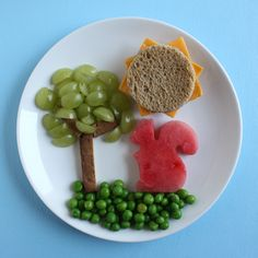 Fancy Lunch Plate: Sunshine and Squirrel | Hellobee