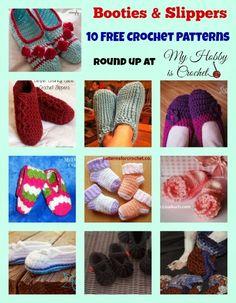 10 Free Crochet Slipper Patterns   STOP searching and START making. Crochet Crafts, Crochet Yarn, Crochet Projects, Free Crochet, Crochet Round, Easy Crochet, Crochet Slipper Pattern, Crochet Slippers, Crochet Patterns
