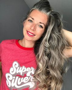 Lilac Hair, Green Hair, Blue Hair, Pastel Hair, Grey White Hair, Long Gray Hair, Grey Hair Before And After, Hairdresser On Fire, Grey Hair Transformation