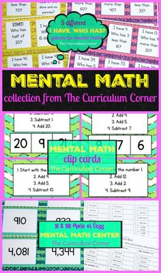 Ideas for Mental Math (The Curriculum Corner)