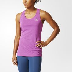 There are many secrets to a successful workout routine. To start with, you need reliable training clothes that feel good every time you put them on. This women's tank top is designed to help you feel cool and comfortable at the gym with climachill™. The knit structure releases heat and allows air to flow. On the inner surface, a print of heat-conductive raised aluminum dots pulls heat away from your skin for a cool-on-contact feel.