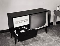 vinylespassion:  Bill Wood - Television cabinet with record player, 1966.