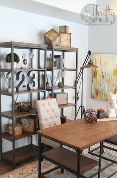 Office decorating idea and model home tour