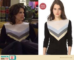Robin's chevron stripe sweater on How I Met Your Mother. Outfit Details: http://wornontv.net/11352 #HIMYM #fashion