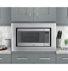 Countertop Microwave Oven, Built In Microwave, Kitchen Cupboards, Kitchen Appliances, Kitchen Reno, Kitchen Ideas, Copper Wood, Appliance Parts