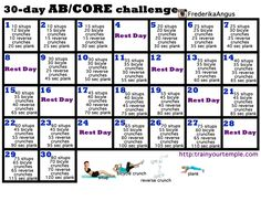 30 Ab and Core Workout Challenge