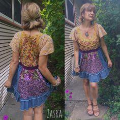 Eco Dress size M Eco Clothingshabby chic dress hippie by zasra