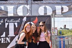 Hannah,Alexandra and Tereza at Baltic Open Air 2016