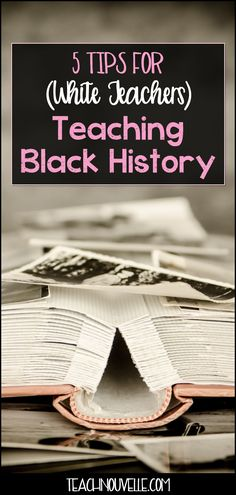 Looking for tips and resources on teaching Black History Month? Here are suggested readings and videos to help White teachers engage every student. History Classroom, Classroom Posters, Black History Month, Black Authors, First Year Teachers, Gymnasium, Teacher Hacks, Teacher Stuff, Language Arts