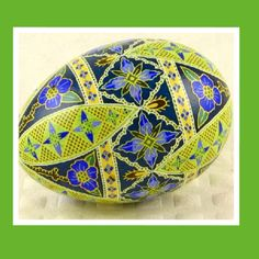 Pysanka (Pysanky) Floral Egg by twistedpoppydesigns.