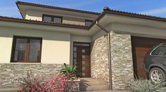 Családi ház | TÉR Stúdió - Építészeti tervezés Wood Floor Colors, Garden Design, House Design, My Dream Home, House Colors, Curb Appeal, Facade, House Plans, Sweet Home