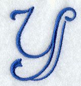 Formal Affair Capital Letter Y - 2 Inch design (G3037) from www.Emblibrary.com