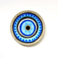Evil Eye Decor - Decorative Plate - Mandala Decor - Wall hanging - Wall Art - Mandala Decor - Jungle Decor - Plate Decor - Plate Art - Art by biancafreitas on Etsy