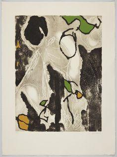 JOSEP GUINOVART Sin título. Grabado iluminado a mano. 2007. 87x64,5cm