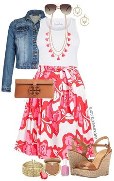 Plus Size Summer Skirt Outfit - Plus Size Summer Casual Outfit Idea - Plus Size Fashion for Women - alexawebb.com #alexawebb #plussize