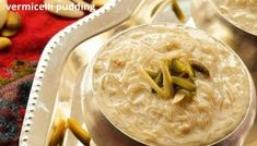 Seviyan Kheer which is also known as Vermicelli Pudding is one of the healthy dessert of Indian cuisine. It is mostly made on Eid festival. Vermicelli Kheer Recipe, Kunafa Recipe, Eid Festival, Ghee Butter, Dried Rose Petals, Flavored Milk, Indian Desserts, Biryani, Raisin