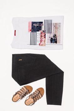 Allmählich zieht sich der Sommer zurück und die warmen Tage werden weniger. Die elegante Hose von Bruno Banani ist die perfekte Wahl für diesen Übergang. Das verträumte s. Oliver Shirt und die City Walk Sandalen sind luftig genug für den Tag, während der Look dank 7/8 Hose auch am kühleren Abend tragbar ist.