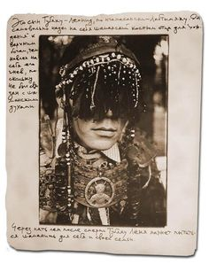 "The photo is part of a reportage about Nganasan shamans from the 1970's to the 1990's.  The notes around the photo say:  ""This is the son of Tubyaku - Leonid, in Nganasan language Labtymyaku. Of his own accord, he dressed in his father's shaman clothes in order to rise up to the higher gods, and thus invoked his [father's] anger, because he had no connections to the shaman spirits."