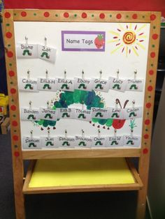 Such a creative classroom idea! Shared on www.facebook.com/theworldofericarle :-)