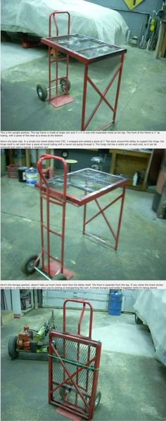 Portable Welding table as inspiration to making a portable woodworking table. Welding Cart, Welding Jobs, Metal Welding, Diy Welding, Welding Design, Metal Projects, Welding Projects, Diy Projects, Welding Ideas