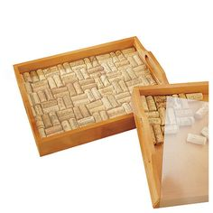 Wine Enthusiast Wine Cork Serving Tray Kit #wine #winelover #wineandbar