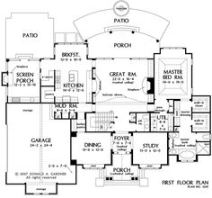 First Floor Plan Of The Kingsbridge   House Plan Number 1245