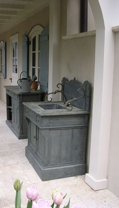 Potting sink - this one is outdoors, but it would look great in potting room