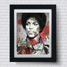 Prince Portrait Album Art Canvas Wall Art Poster Print Music cd Artist Song